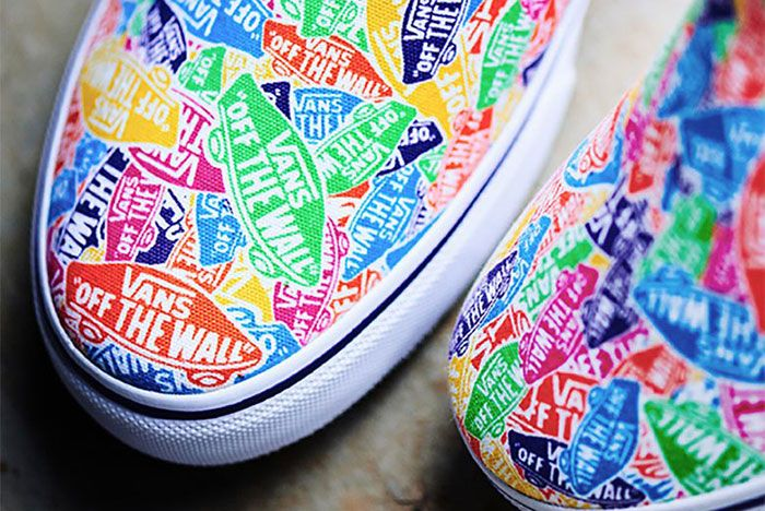 Vans Slip On Multi Color Logo 3 Toe