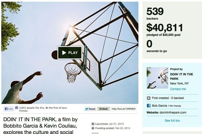 Doin It In The Park Kickstart 1