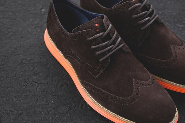 Cole Haan Lunargrand Wingtip Ss13 Brown Midfoot Profile