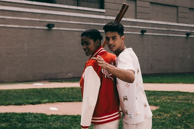 Maison Kitsune Reebok Baseball Collection Bumper 6
