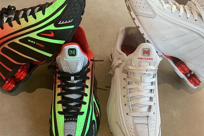 Neymar Jr Nike Shox R4 Collaboration First Look Pair