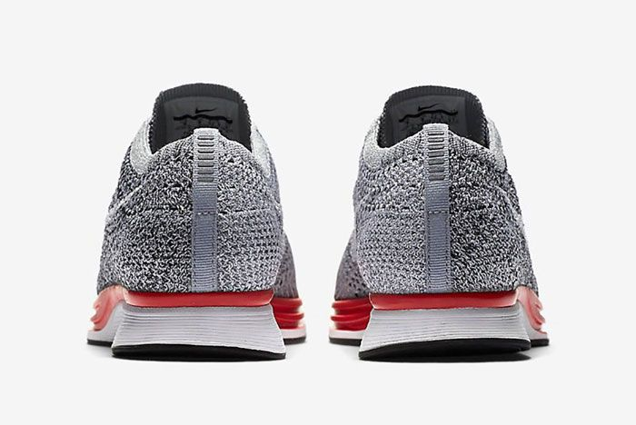 Nike Flyknit Racer Wolf Grey Red3