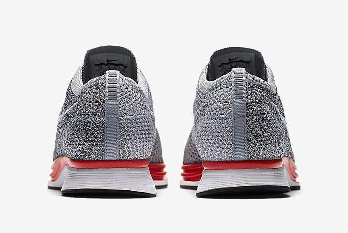 Nike Flyknit Racer Wolf Grey Red3