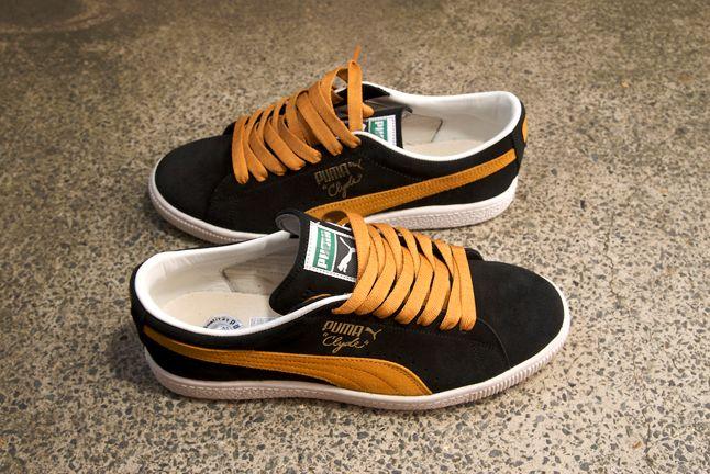 Puma Clyde Navy Orange 1