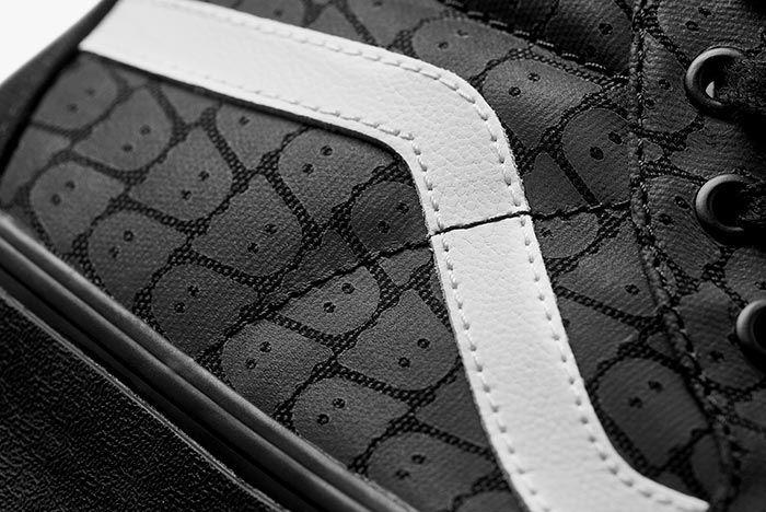 Ghstly Vans Sk8 Hi Black Detail