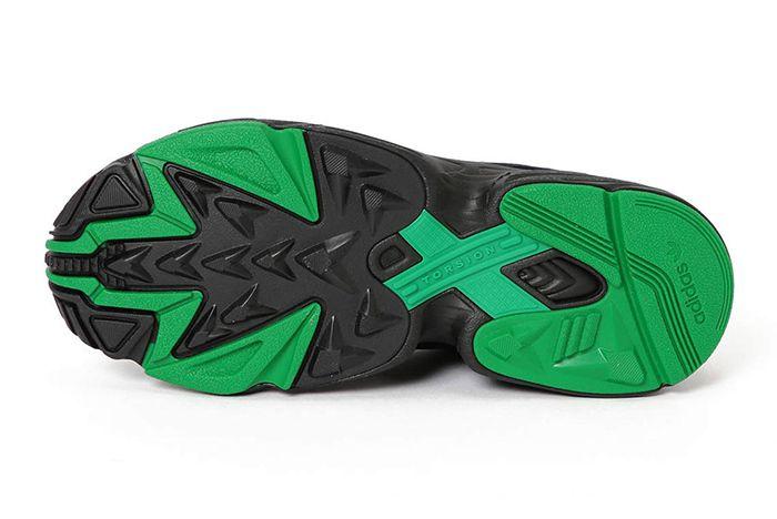 Beams Adidas Falcon Black Green 3