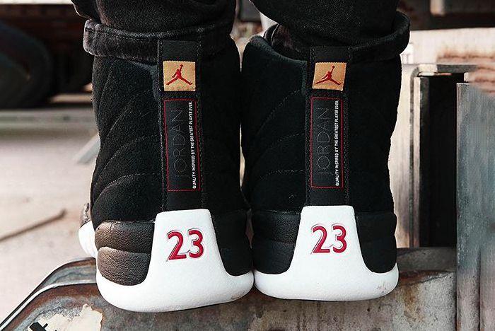Air Jordan 12 Reverse Taxi On Foot Heel