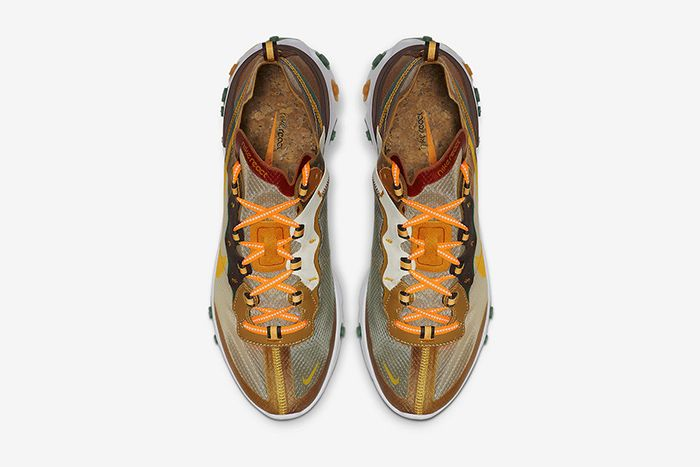 Nike React Element 87 Orange Peel Release Date Top Down