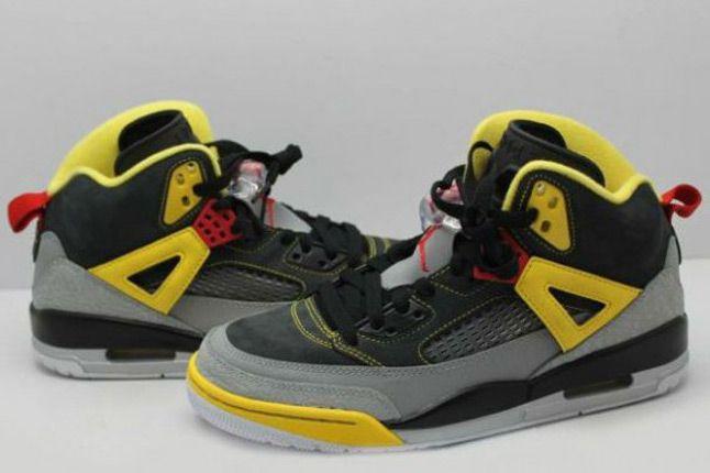 Jordan Spizike 3M Reflective Yellow Black Pair 1