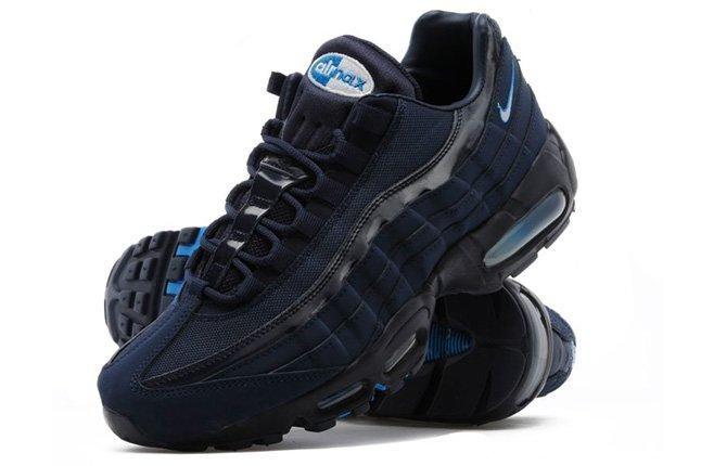 Nike Air Max 95 Blackend Blue Pair 1
