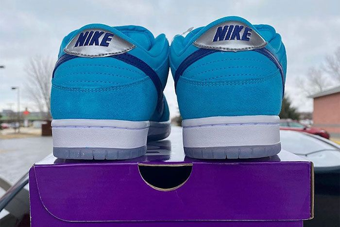 Nike Sb Dunk Low Blue Furry Bq6817 400 Release Date 2 Leak