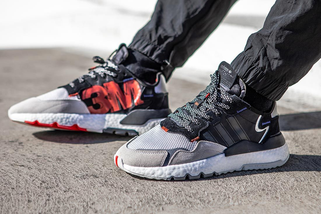 On Foot Adidas Nite Jogger Black And Grey