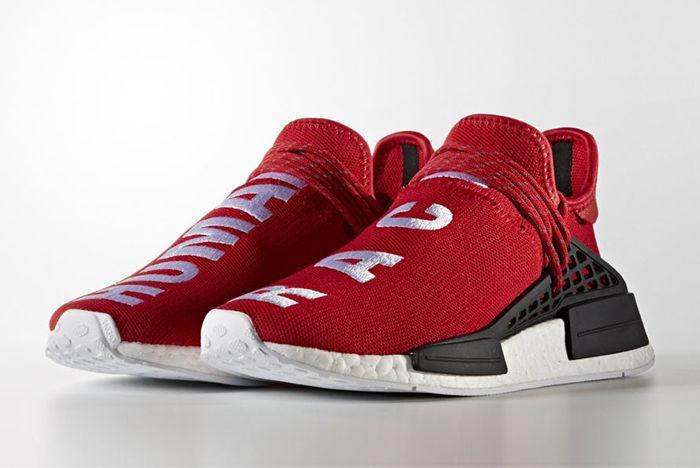 Pharrell Williams X Adidas Hu Nmd Red