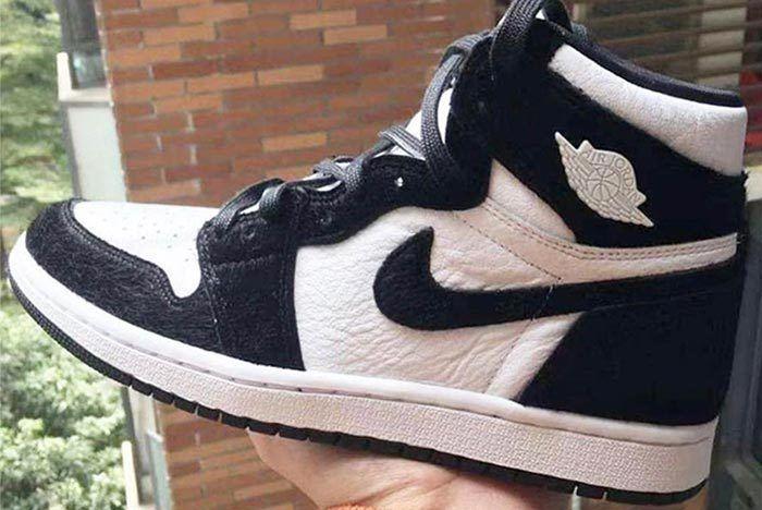 Air Jordan 1 Retro Black And White Side Shot
