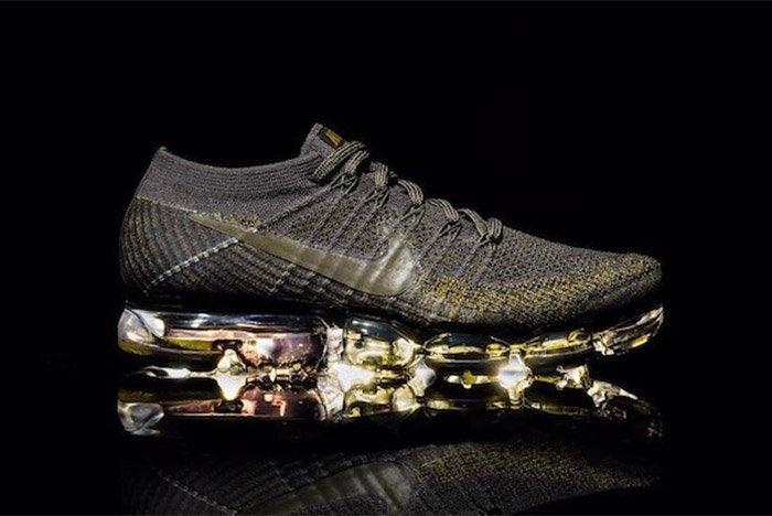 Nike Air Vapormax Black Gold Olive Grey 1