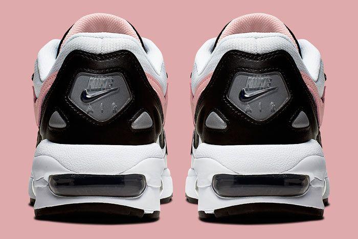 Nike Air Max 2 White Black Pink Heel
