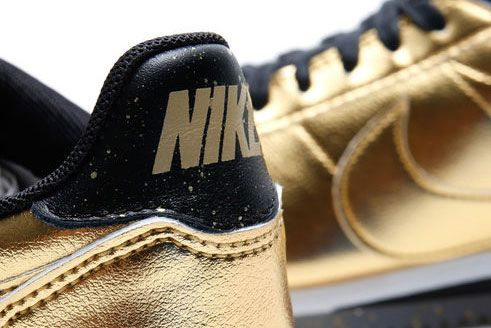 Nike Classic Cortez Leather Metallic Gold 6
