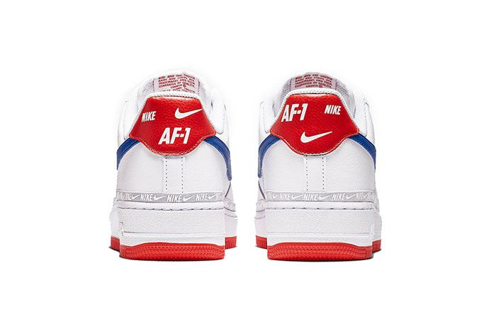 Nike Air Force 1 Red White Blue Heel Shot 2