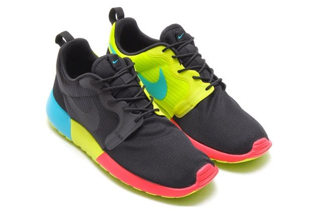 Nike Roshe Run Hyperfuse Black Venom Green 3