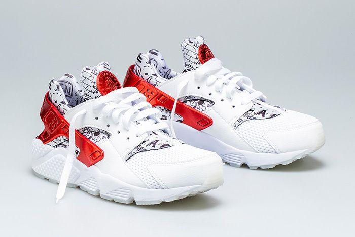 Nike Air Huarache Qs White Red Shoe Palace 5 Sneaker Freaker