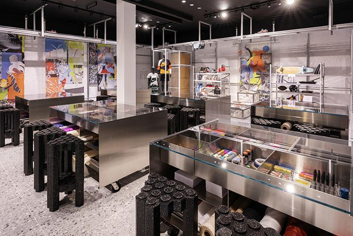 Virgil Abloh Nikelab Chicago Re Creation Center Inside Materials