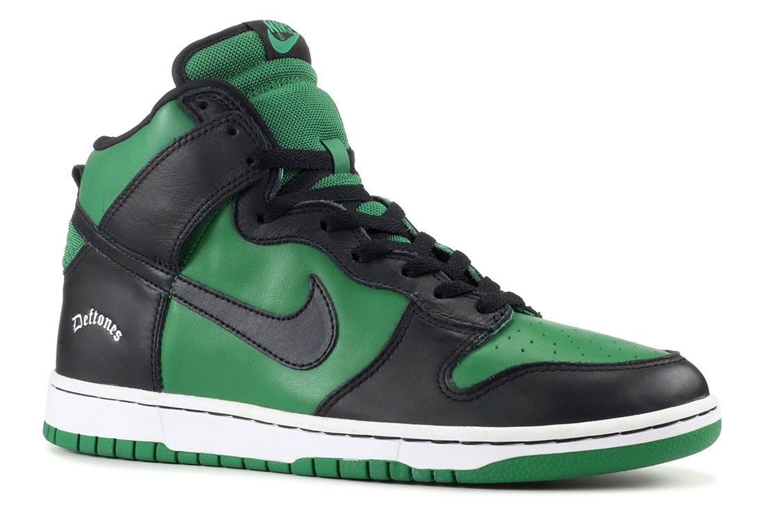 Deftones X Nike Dunk High Side Shot Angle