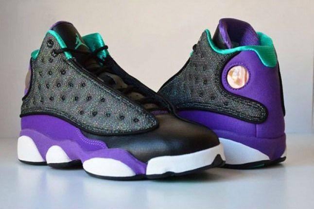 Air Jordan 13 Black Ultraviolet Atomic Teal 7 Back To Back 1