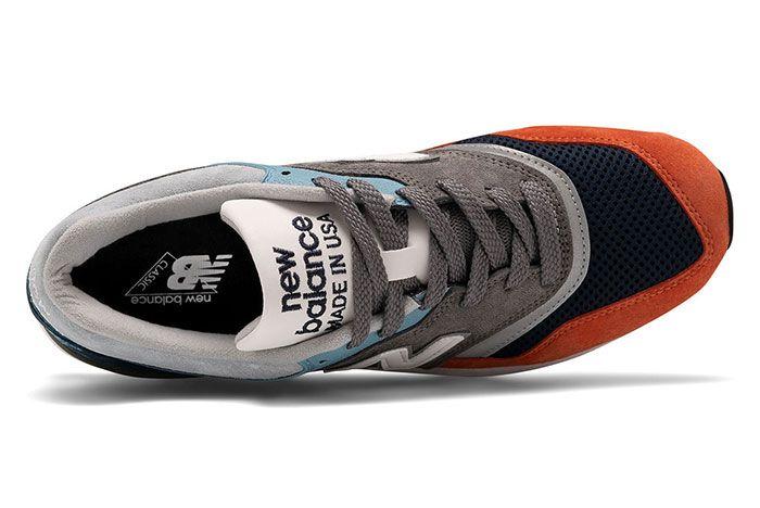 New Balance 997 Made In Usa Orange Navy Blue Top