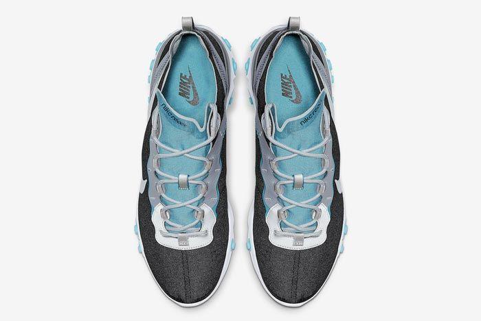 Nike React Element 55 Wolf Grey Pure Platinum Aqua Top