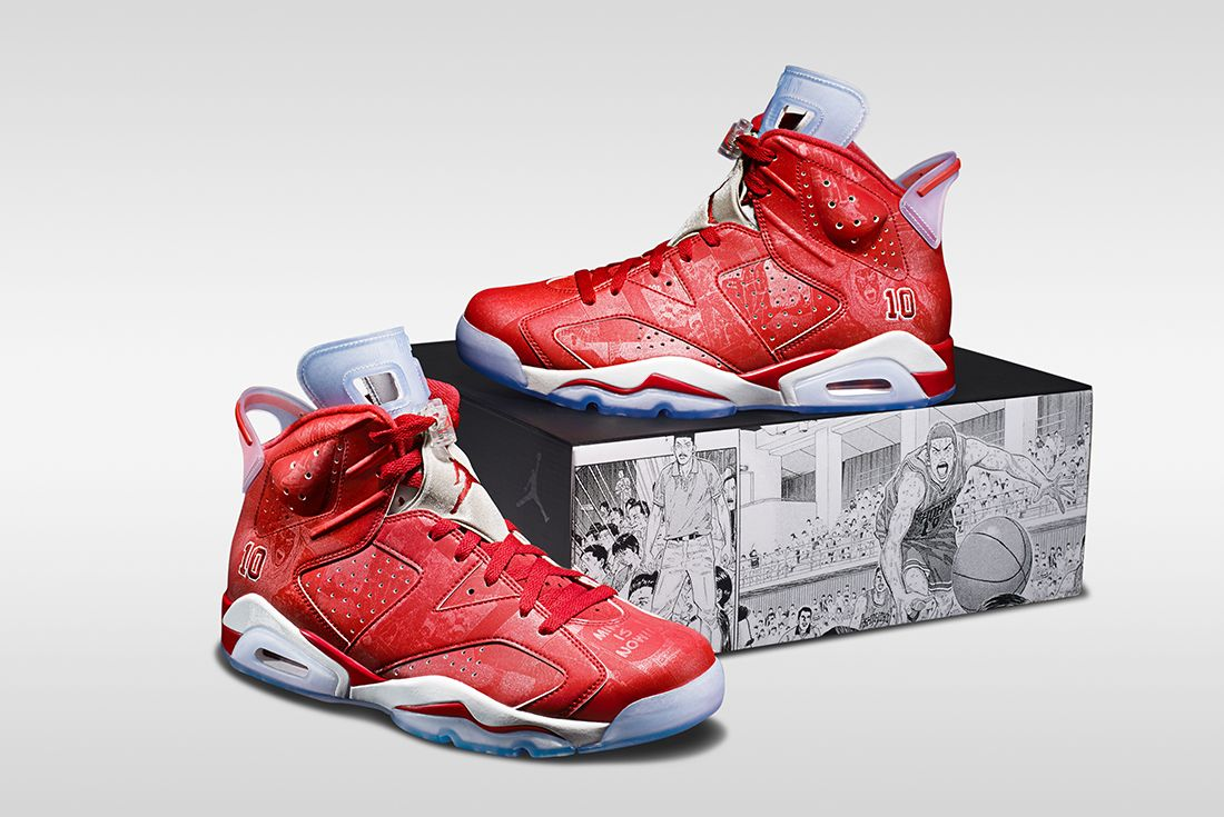 slam dunk x air jordan 6 with box