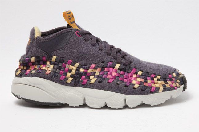 Nike Footscape Woven Chukka Gold Purple Wool Side 1