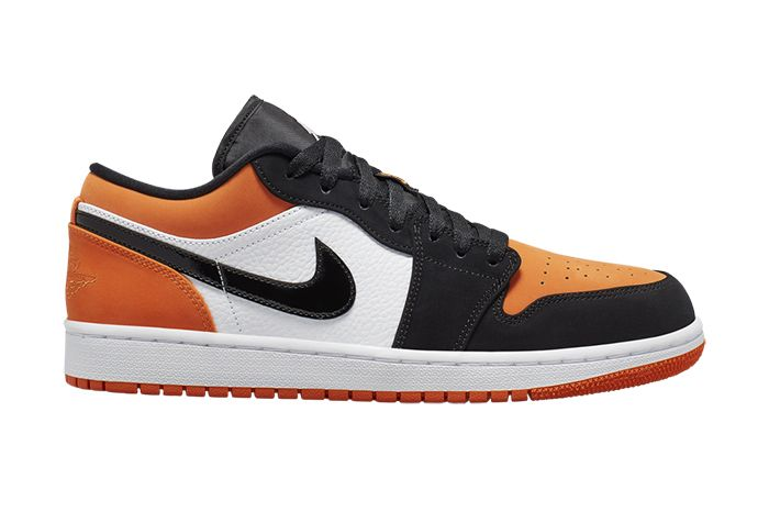 Air Jordan 1 Low Shattered Backboard White Black Starfish 553558 128 First Look Release Date Lateral