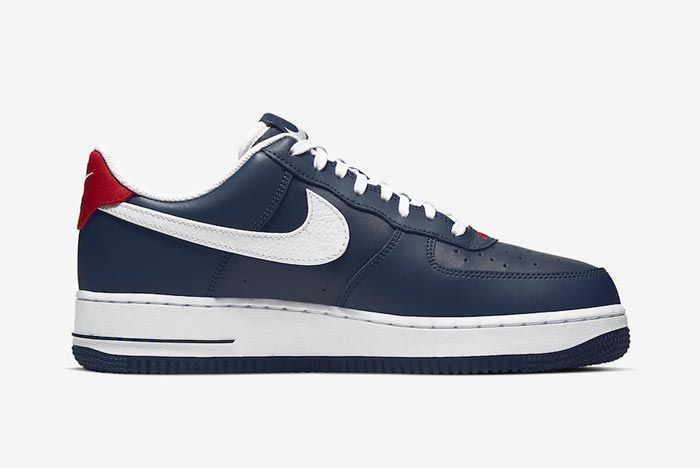 Nike Air Force 1 Blue White Red Medial