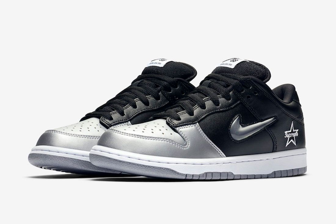 Supreme Nike Sb Dunk Low Metallic Silver Ck3480 001 2019 Release Date 4 Pair
