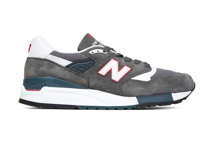 New Balance 998 Cra Made In Usa Grey Red Teal