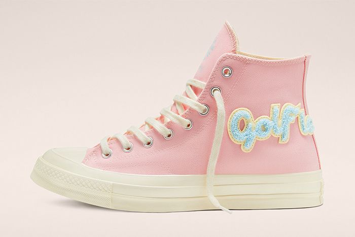 Golf Le Fleur Converse Chuck 70 Chenille Pink Release Date Lateral