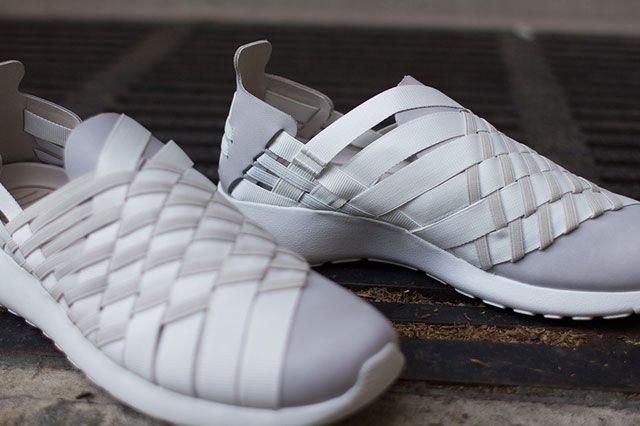 Nike Roshe Woven Beige Closeup