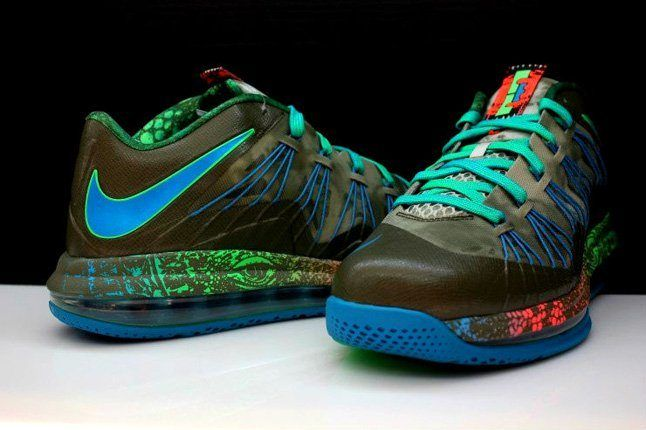 Nike Lebron X Low Tarp Green 1