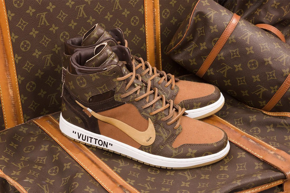 Off White X Louis Vuitton Off Louis Air Jordan 1 Custom 10