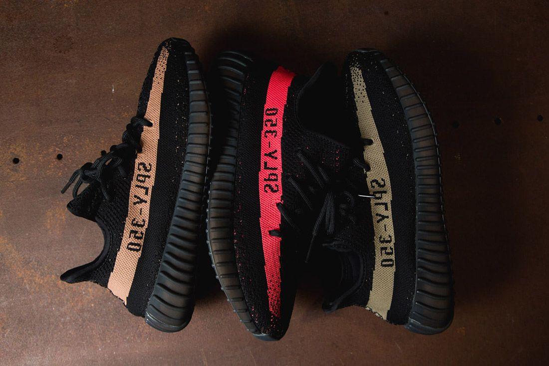 Adidas Originals Yeezy Boost 350 V2 Black Copper Solar Red Green 86