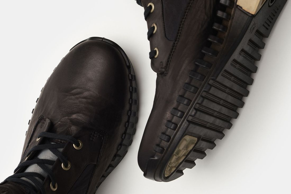 Stone Island x Ecco Leather Exostrike Boot