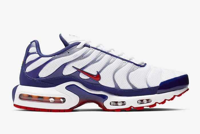 Nike Air Max Plus White Navy Red Right