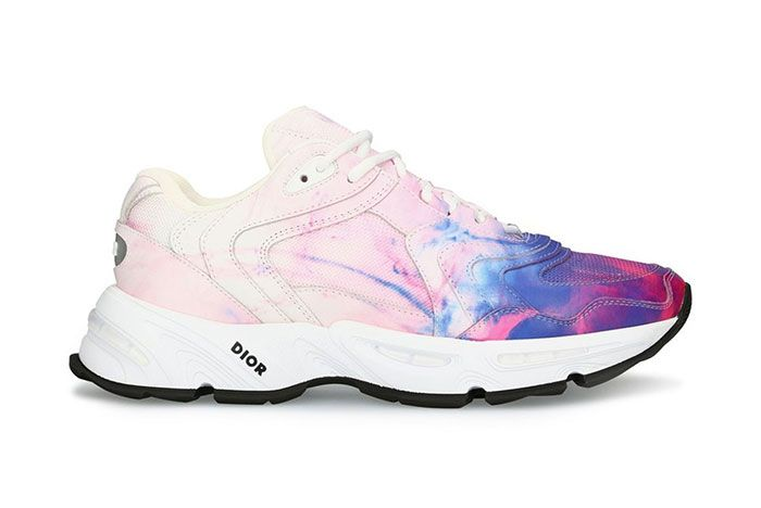 Dior Cd1 Tie Dye Print Sneakers Ss20 Lateral Side Shot