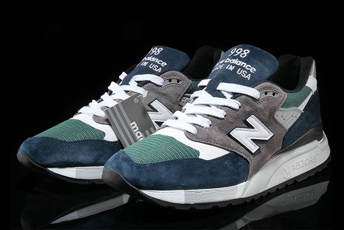 New Balance 998 Navy Green 5
