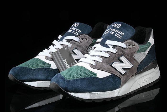 New Balance 998 Navy Green 5