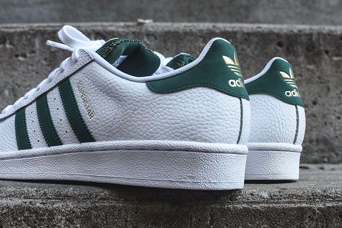Adidas Superstar White Green Mesh 1