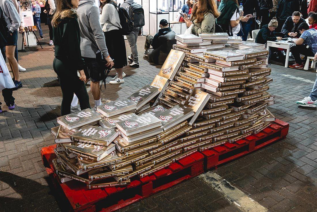 Sneakerness London Event Recap Sneaker Book Sculpture