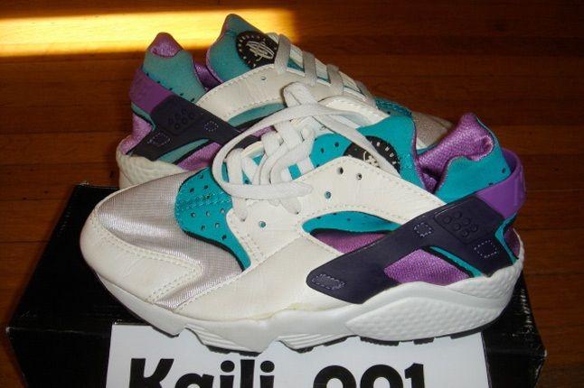 Nike Air Huarache Teal Purple 1
