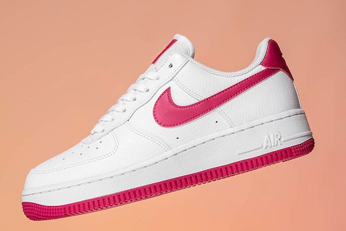 Nike Air Force 1 Wild Cherry Red Ah0287 107 Lateral