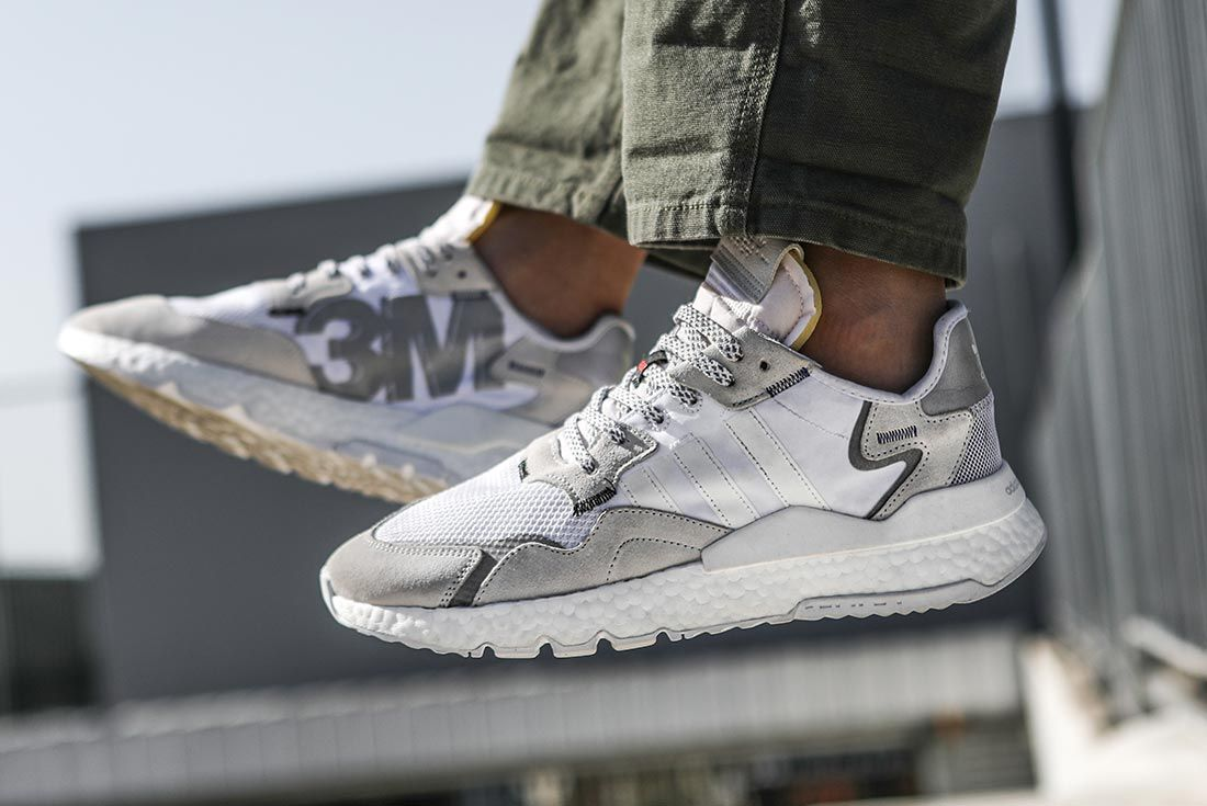 On Adidas Nite Jogger White Left